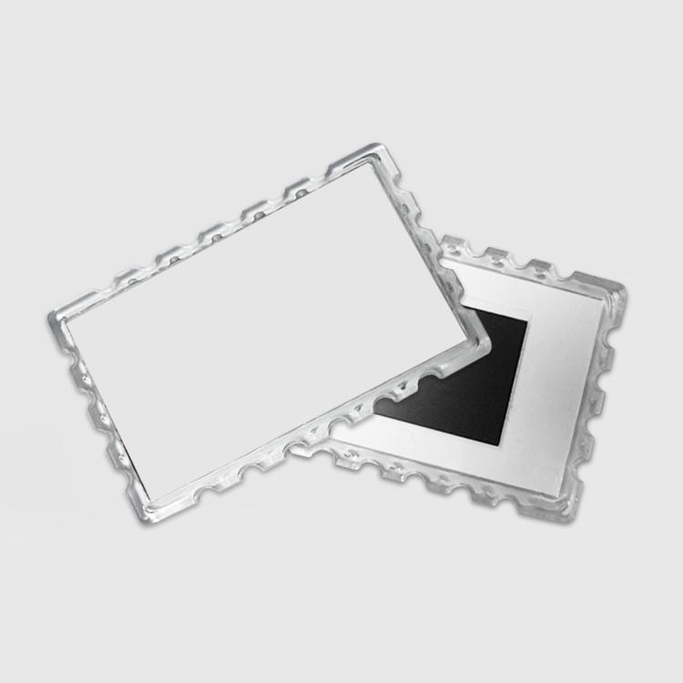 Магнит акриловый «марка», прямоугольный (прозрачный)