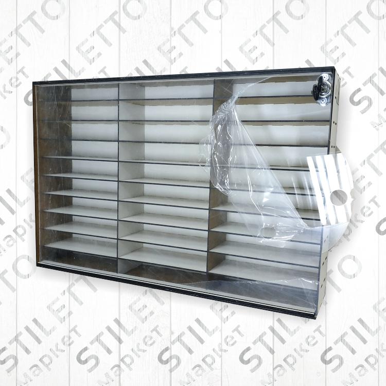 Ящик с пластиковой дверцей (3 х 10 на 30 ячеек)