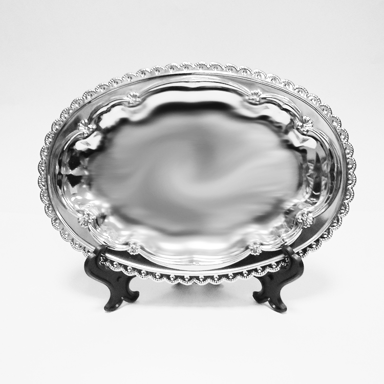 Тарелка металл, овал