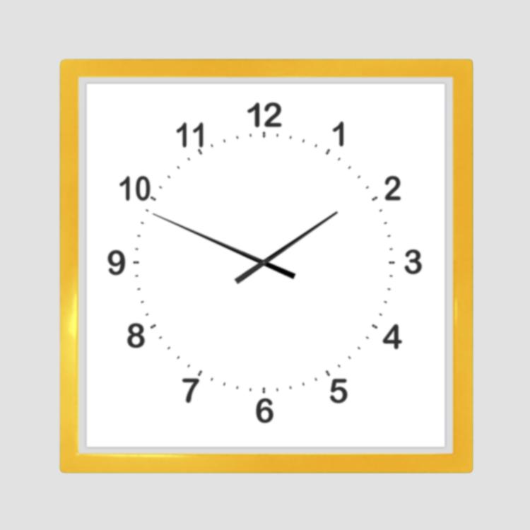 Часы настенные, квадратные