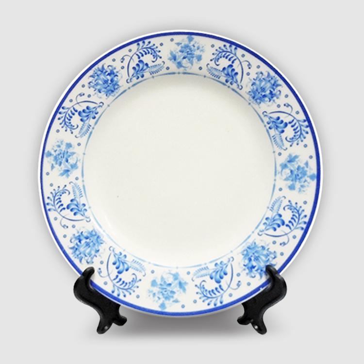Тарелка керамика под «Гжель»