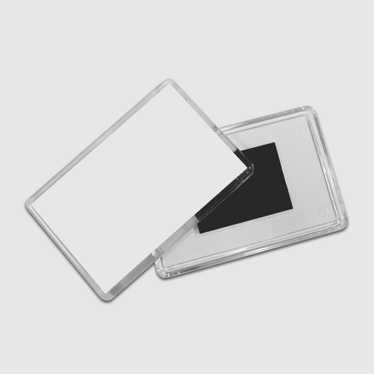 Магнит акриловый, прямоугольный (прозрачный)