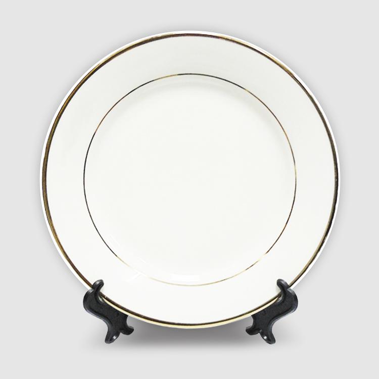 Тарелка керамика с золотой каймой