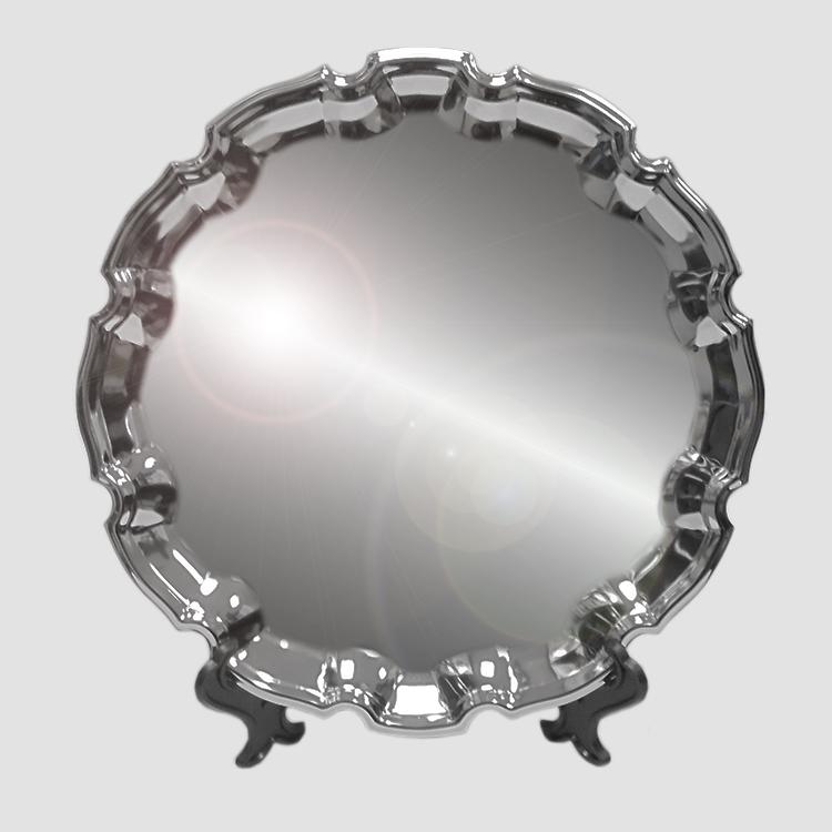 Тарелка металл, фигурная