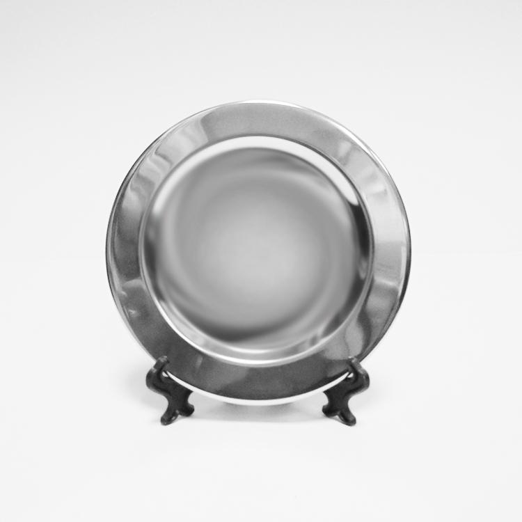Тарелка металл, маленькая